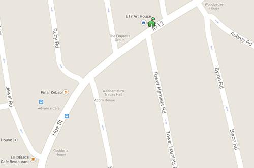 E17 Art House Google Map