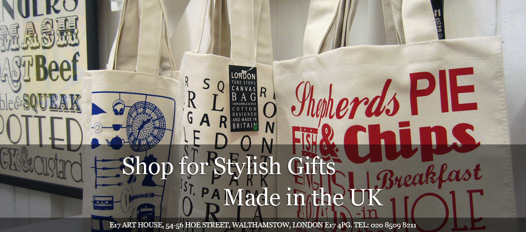 E17 Art House Canvas Bags and Gifts